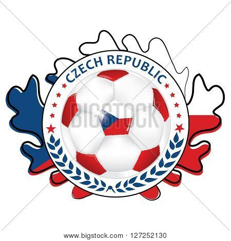 Soccer printable label with flag of Czech Republic. Printable Czech Republic soccer label, containing a soccer ball and Czechian flag. Print colors used