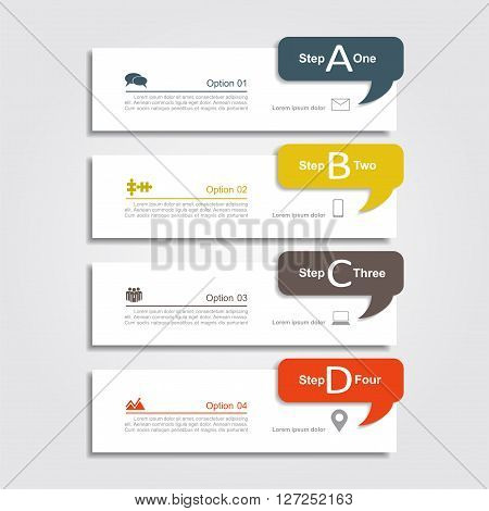 Infographic design template your data. Vector illustration.