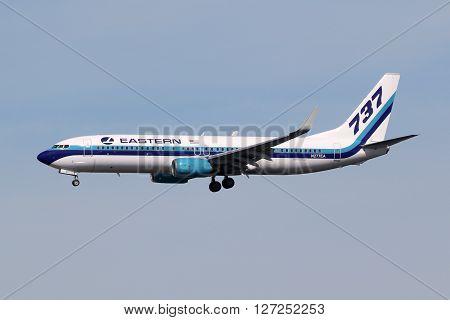 Eastern Air Lines Boeing 737-800 Airplane Miami Airport