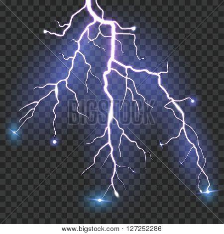 Vector Lightning isolated . vector illustration .