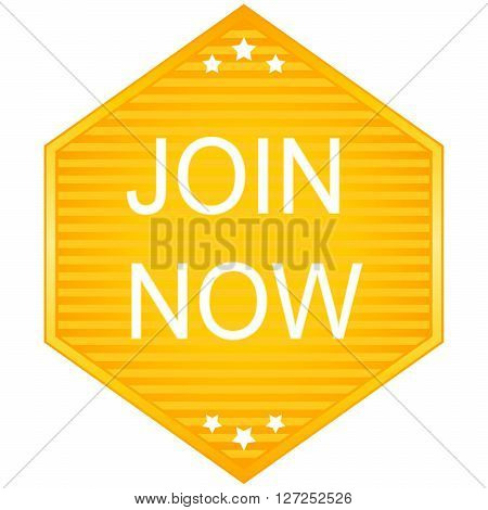 Join now vector stickers on white background
