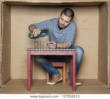 Student And His Empty Dorm