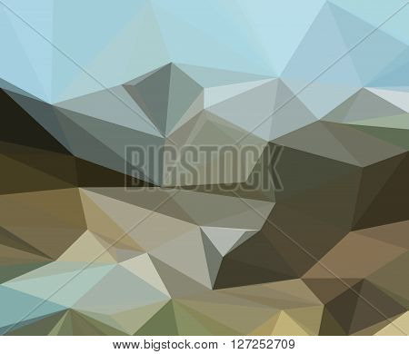 Background with Abstract Low Poly Geometrical Polygonal Pattern. Vector