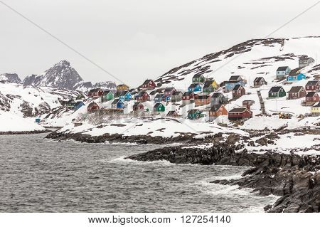 Kangamiut village in the middle of nowhere Greenland May 2015