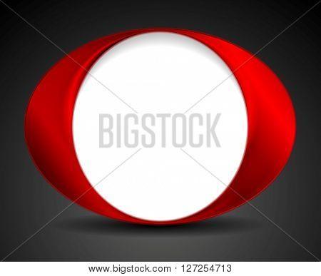 Abstract bright circle O shape logo design. Vector background