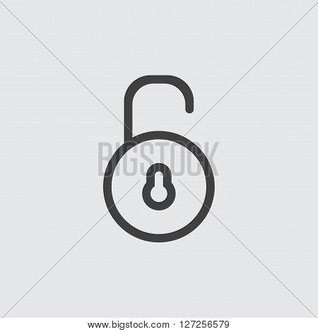 Unlock icon illustration isolated vector sign symbol