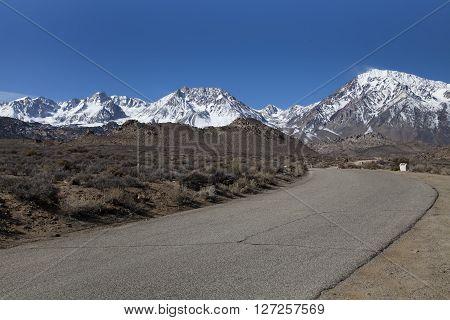 High Sierra mountain range near Bishop in California
