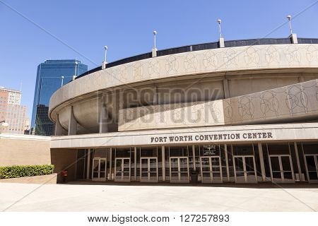FORT WORTH TX USA - APR 6: Fort Worth Convention Center building. April 6 2016 in Fort Worth Texas USA