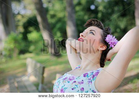 Daydreaming girl