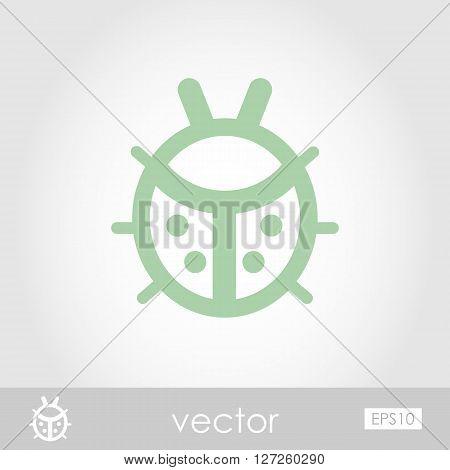Ladybug vector icon outline isolated garden eps 10