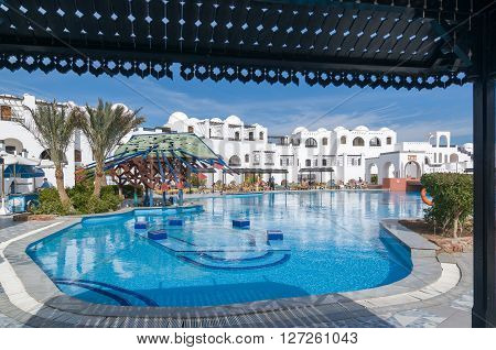 Hurghada, Egypt  - January 10, 2011 - Arabella Azur is one of the many Red Sea hotels popular among tourists from Russia and Great Britain