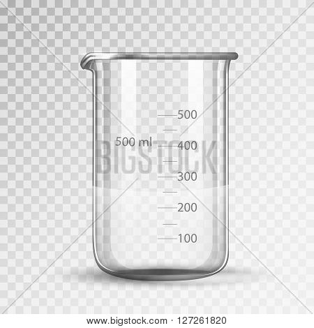 laboratory glassware or beaker isolated on a white background