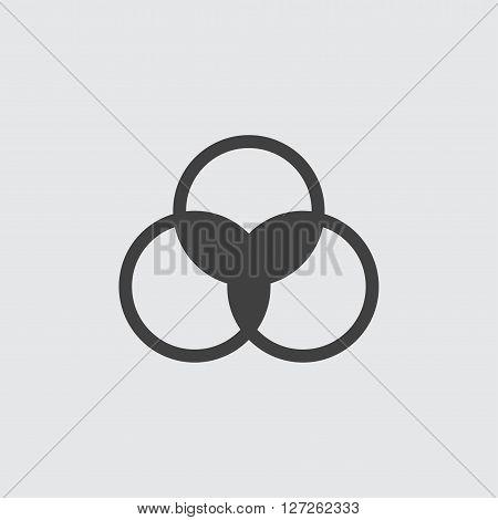 Venn diagram icon illustration isolated vector sign symbol
