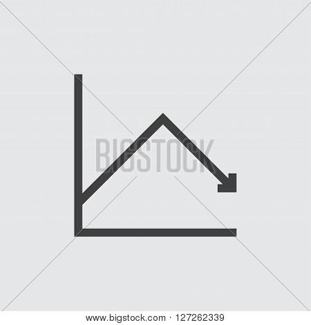 Decrease chart icon illustration isolated vector sign symbol