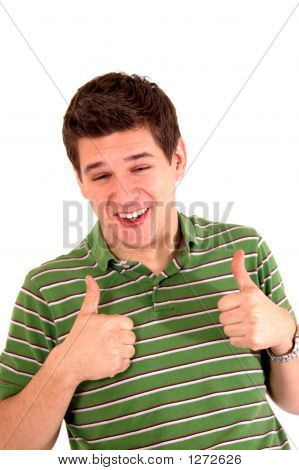 Young Guy Giving Thumbs-Up