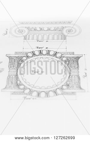 architectural drawing - detail column