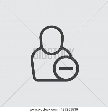 Delete user icon illustration isolated vector sign symbol