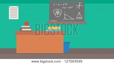 Background of classroom.