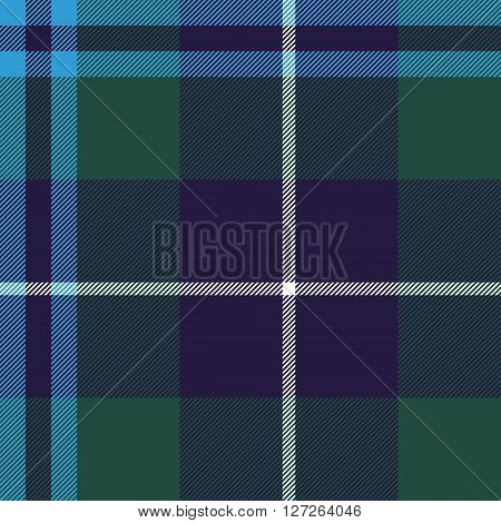 douglas tartan seamless pattern fabric texture. Vector illustration. EPS 10. No transparency. No gradients.