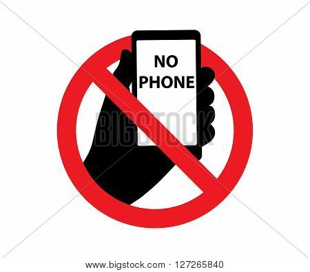 Forbidding Signs No Phone symbol vector illustration