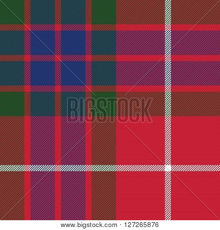 fraser tartan seamless pattern fabric texture. Vector illustration. EPS 10. No transparency. No gradients.