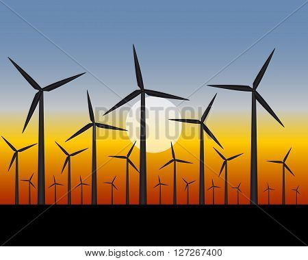 wind turbines for generating a electricity in the field
