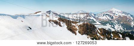Fantastic sunny day is in mountain landscape. Dramatic and picturesque morning scene. Place location Carpathian National park, Chornogora range. Ukraine, Europe. Beauty world.