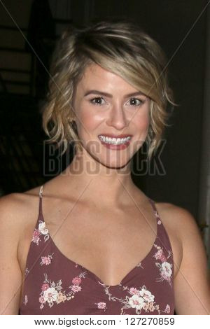 LOS ANGELES - APR 25:  Linsey Godfrey at the Bold and Beautiful Emmy Nominees Celebration at the CBS Television City on April 25, 2016 in Los Angeles, CA