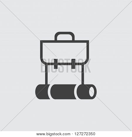 Backpack icon illustration isolated vector sign symbol