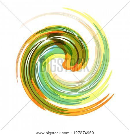 Dynamic Flow Illustration. Swirl Background.