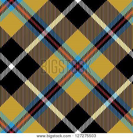 cornish tartan fabric texture seamless diagonal pattern. Vector illustration. EPS 10. No transparency. No gradients.