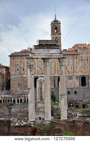 Archaeological Excavations In The Roman Forum, Rome, Italy