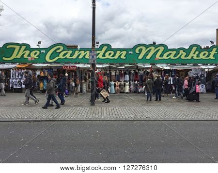 LONDON - APRIL 25: The Camden Market on April 25, 2016 in London, UK.