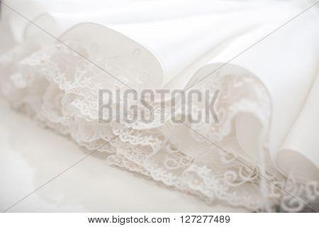 Wedding Dress Close Up.