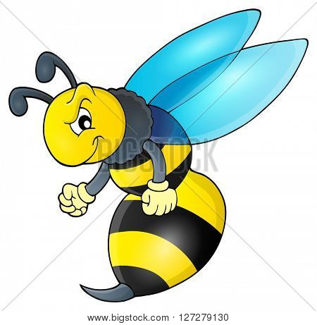 Wasp theme image 1 - eps10 vector illustration.