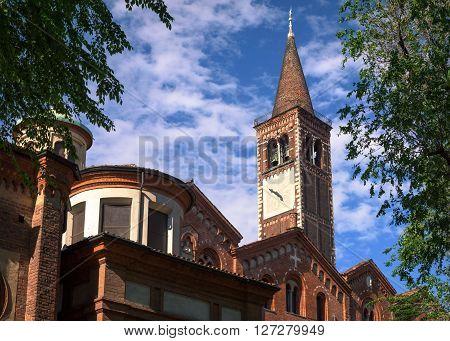 Basilica of Sant Eustorgio Milan, Italy .