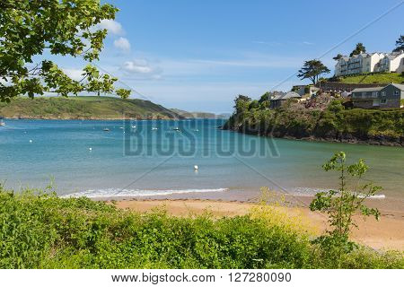 South sands beach Salcombe Devon UK beach in the estuary in summer