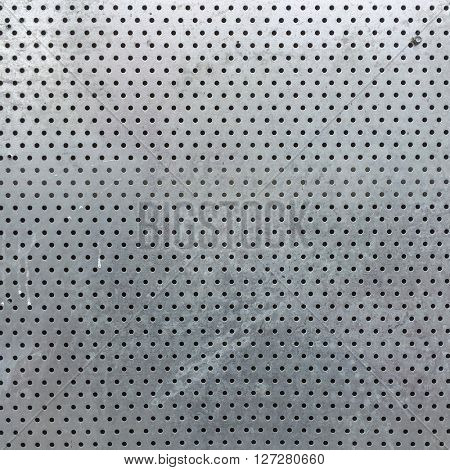 Sheet metal with holes