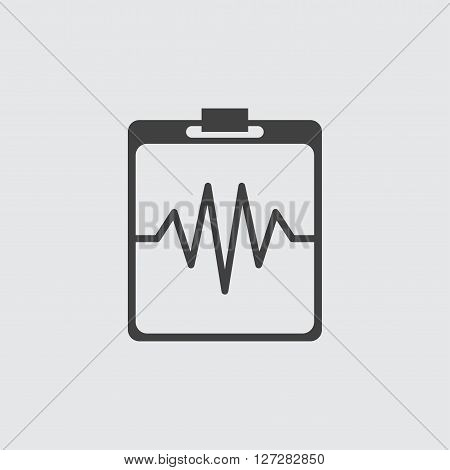 Heartbeat cardiogram icon illustration isolated vector sign symbol