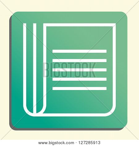 Newspaper Icon In Vector Format. Premium Quality Newspaper. Web Graphic Newspaper Sign On Green Ligh