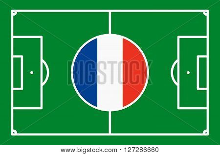 Abstract Green Soccer Field