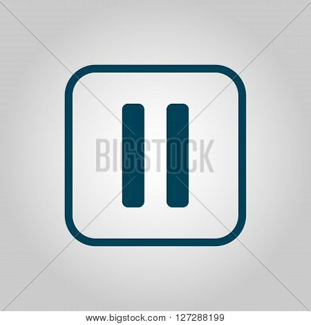 Music Pause Icon In Vector Format. Premium Quality Music Pause. Web Graphic Music Pause Sign On Grey