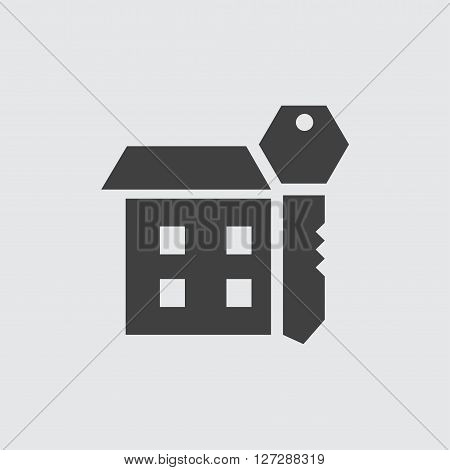 House key icon illustration isolated vector sign symbol