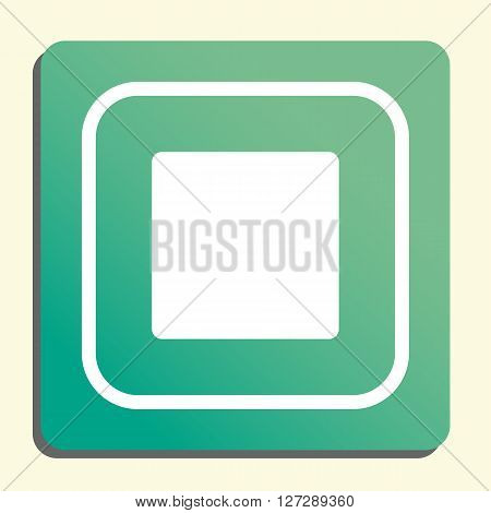 Music Stop Icon In Vector Format. Premium Quality Music Stop. Web Graphic Music Stop Sign On Green L