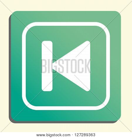 Music Back Icon In Vector Format. Premium Quality Music Back. Web Graphic Music Back Sign On Green L