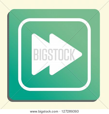Music Next Icon In Vector Format. Premium Quality Music Next. Web Graphic Music Next Sign On Green L