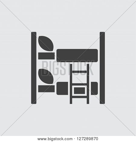 Bunk bed icon illustration isolated vector sign symbol