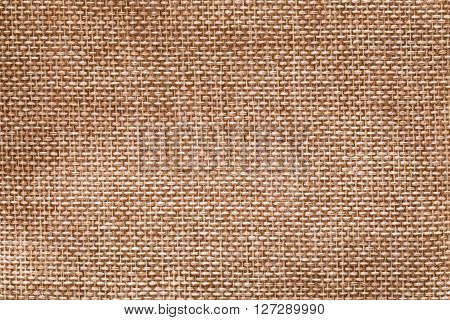 The surface of a hemp sack brown. Shooting from close range.