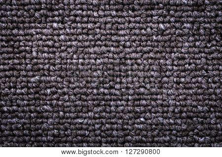 Close up shot of a Carpet gray texture pattern.