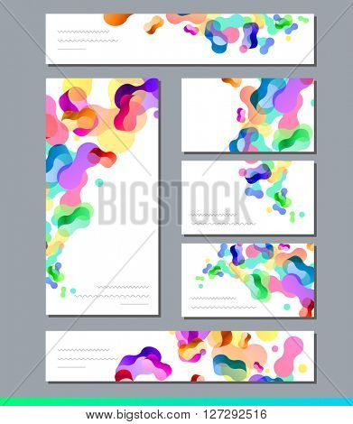 Templates with abstract elements for branding and identity. For modern design, announcements,  posters, advertisement.
